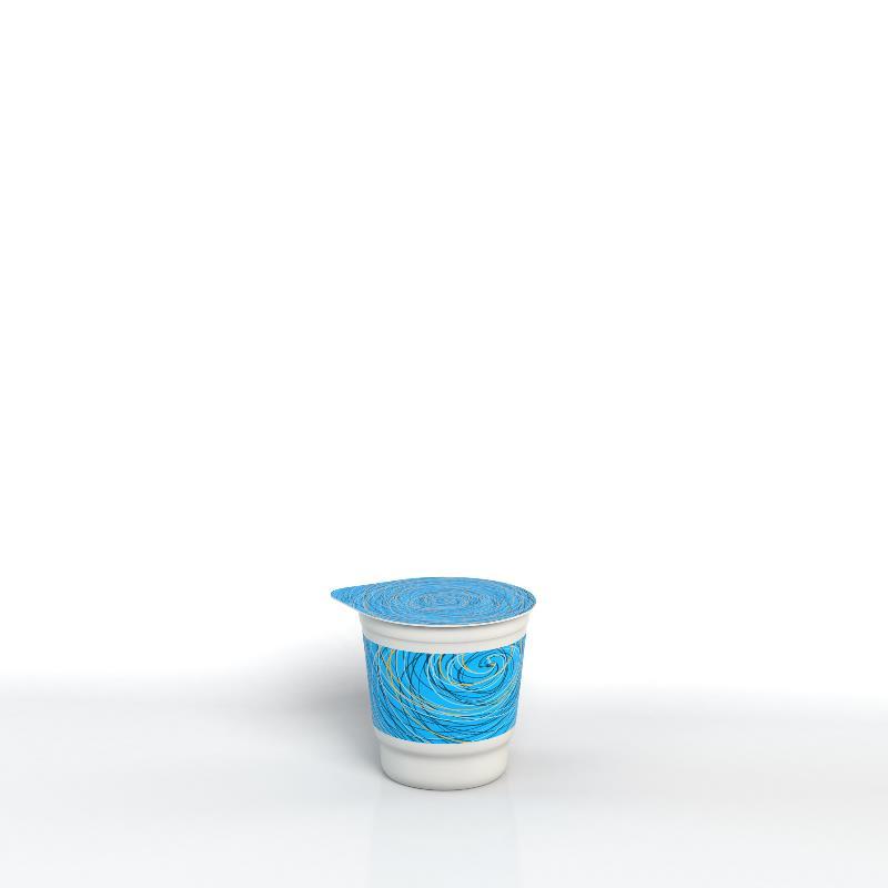 Étiquette partielle sur pot conique