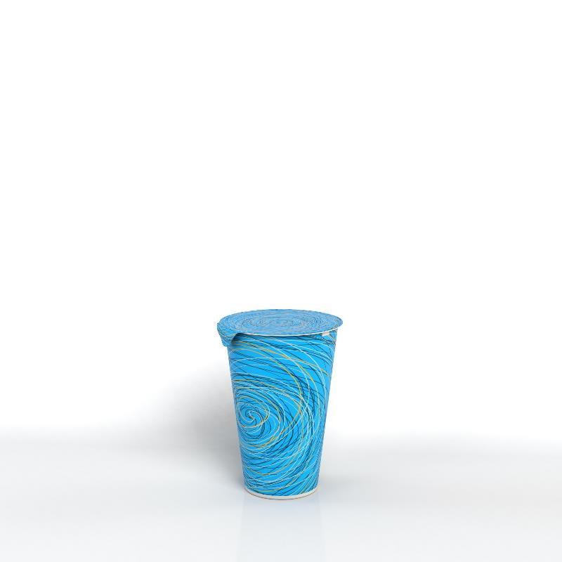 Printed PS Cups with Aluminum or PET Lid
