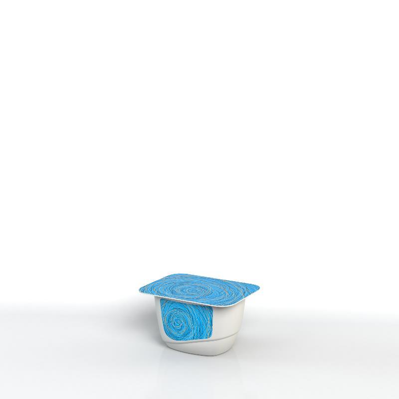Pot façonné avec étiquette moulée