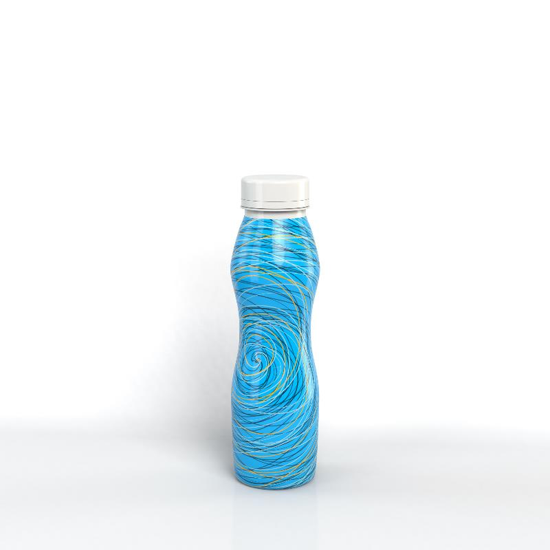 Sleeved PP Bottle with Screw Cap